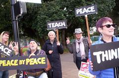 100_2789 (Haight Ashbury Neighborhood Peace Vigil) Tags: haight ashbury peace vigil iraq iran afghanistan syria venezuela war moratorium golden gate park panhandle san francisco may 2019