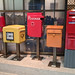 Mailboxes of Japan, India, Germany, Netherlands, Finland, and Canada