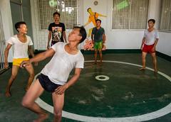 chinlone-00668 (-i-) Tags: air ball ballgame chinlone green headbutt leisure man men myanmar sports yangon