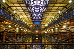 Mortlock Wing (Anthony Kernich Photo) Tags: adelaide australia southaustralia sa building architecture structure inside indoor library statelibrary mortlockwing victorian book olympusem10 olympus olympusomd microfourthirds historic landmark heritage room museum downtown city cbd symmetry vanishingpoint line parallel travel flickr