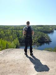 Repovesi (deff0) Tags: fujifilm fujix x100t x100 xtrans brenizer panorama verticalpanorama landscape hiking forest nordic cliff lake clearsky repovesi nationalpark kouvola suomi finland kansallispuisto katajanvuori
