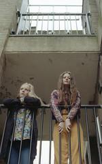 Charlotte & Kate (fraser_west) Tags: portrait film 35mm analog youth building kodak canon eos3 colour200 university leicester halls uk wetheconspirators