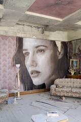 The Sun Room (realstephenwhite) Tags: mural portrait abandoned interior decay derelict realstephenwhite art face rone stephenwhite empire painting streetart