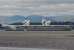 HMS Queen Elizabeth R08 (Gerry Hill) Tags: hms queen elizabeth r08 imo 4907892 aircraft carrier royal navy south queensferry hopetoun house scotland rosyth dry dock sea forth road bridge harbour river water firth replacement crossing north lizzie