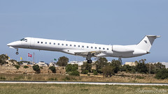 Malta International Airport (Redeemer_Saliba) Tags: aerosource llc embraer erj145lu n296ma landing lmml luqa airport rwy 31