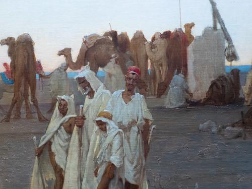 Prière du soir dans le Sahara