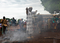 Mulsim man in the smoke during the Ngoro dance, Savanes district, Ndara, Ivory Coast (Eric Lafforgue) Tags: adults africa africanethnicity celebration ceremony colourimage côtedivoire cultures dance day ethnic ethnology fire fireplace groupofpeople horizontal indigenousculture ivorycoast ivory6901 men ndara ngoro outdoors performing rite rural senoufo senufo smoke tradition tribal tribe westafrica savanesdistrict
