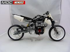 moto guzzi hypermotard2 (moc-nemooz.com) Tags: moto guzzi hypermotard moc nemooz lego technic motorbike motorcycle