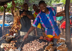 Grilled meat as street food, Savanes district, Kouto, Ivory Coast (Eric Lafforgue) Tags: adults adultsonly africa africanculture africanethnicity bagoue barbecuegrill business citylife colourimage côtedivoire cultures developingcountries food foodanddrink freshness grilled horizontal indigenousculture ivorycoast ivory7172 kouto lifestyles marketretailspace marketstall meat men menonly outdoors photography rawfood readytoeat restaurant selling shop socialissues store streetfood streetmarket threepeople town trading traditionalclothing traveldestinations vendor westafrica savanesdistrict