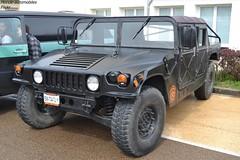 Hummer H1 (Monde-Auto Passion Photos) Tags: voiture vehicule auto automobile hummer h1 4x4 suv toutterrain noir black sportive rare rareté gros monstre rassemblement france courtenay