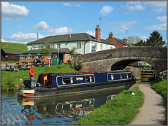 SAPPHIRE CUT (Jason 87030) Tags: sapphire cut blue nelson admiral punters john beer pint weather sunny walk clayton local towpath pub inn braunston village northants bridge refelction clouds lighting canal crt guc lock scene uk nice cool ilce alpha a6000 lens tag sony camera shot shoot session afternoon may 2019