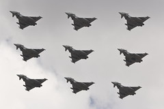 Diamond 9 Typhoons (Rob390029) Tags: raf royal air force fairford ffd eurofighter typhoon riat international tattoo egva 9