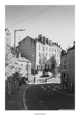 Birchcliffe Road (Rory Prior) Tags: 35mm birchcliffe calderdale hebdenbridge rollei35se spring yorkshire bw film fomapan100 houses road street