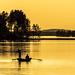 fishermen in sunset
