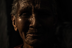 From the Series : Skins (Ivoire_Gazelle) Tags: black dark darkness sunlight light shadow portrait face emotions oldage old closeup photography street shot monochrome minimal night sadness artistic abstract