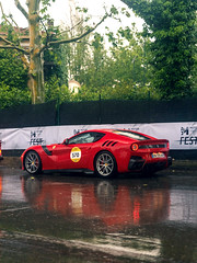 TDF in the Rain (Mattia Manzini Photography) Tags: ferrari f12 tdf f12tdf supercar supercars cars car carspotting nikon d750 v12 red automotive automobili auto automobile italy italia modena millemiglia ferraritribute rain wet limited
