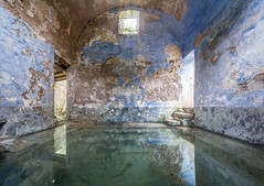 Roman bath (NأT) Tags: romain romaine roman spa bath water eau therme thermal color colorful abandoned abandon abandonné abandonnée abbandonato abbandonata ancien ancienne alone architecture explorationurbaine exploration explore exploring empty explo explored rust rusty ruins rotten trespassing urbex urban urbain urbaine urbanexploration discover travel trip interior inside inexplore old past photography decay decaying derelict dust decayed dusty forgotten forbidden nature natural memories lost light life nobody neglected building verlassen