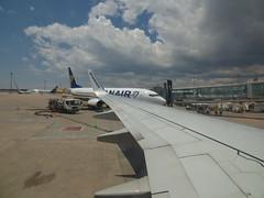 Barcelona Airport - Ryanair (ell brown) Tags: barcelona catalonia catalunya spain españa barcelona–elpratjoseptarradellasairport barcelonaairport barcelonaelpratairport bcn aena aeropuertodebarcelona elpratairport elpratdellobregat ryanair planewing birminghamairport bhx birmingham boeing737800 plane fedex dhl