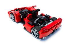 Enzo Ferrari 1:16 (24) (Noah_L) Tags: lego creation moc own ferrari enzo red car sportscar supercar hypercar noahl