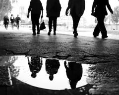 Lets Walk (click100) Tags: bw blackandwhite blackwhite monochrome arc paris walk man legs canon candid eosrp mirrorless people seine riverbank