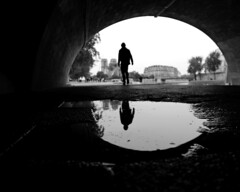 Walking Man (click100) Tags: bw blackandwhite blackwhite monochrome arc paris walk man legs canon candid eosrp mirrorless people seine riverbank