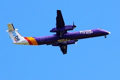 G-KKEV FLYBE DASH 8 FROM FRONT GARDEN (toowoomba surfer) Tags: aeroplane airline airliner aviation aircraft ncl