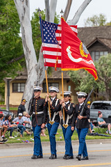 Redondo Union High School Marine Corps JRTOC (mark6mauno) Tags: flag honor guard redondo union high school marine corps jrtoc 60thannualtorrancearmedforcesdayparade 60th annual torrance armed forces day parade 2019 nikkor 70200mmf28evrfled nikon nikond810 d810