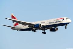 G-BZHA (Andras Regos) Tags: aviation aircraft plane fly airport lhr egll heathrow spotter spotting approach landing ba britishairways boeing 767 b763 767300er