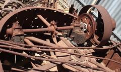 Belt driven shaft (Runabout63) Tags: machine shaft belt pulley gear