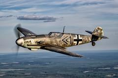 ME-109 Side View nik (1 of 1) (jetguy1) Tags: messerschmittbf109g4 warbird fighter luftwaffe wwii pilot fighterpilot