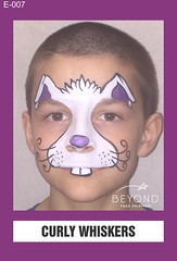 E-007 CURLY WHISKERS (BEYOND Face Painting) Tags: easter animal animals bfp beyond originals