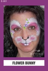 E-001 FLOWER BUNNY (BEYOND Face Painting) Tags: easter animal animals bfp beyond originals