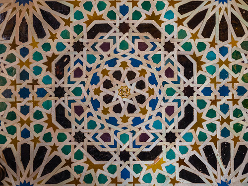 Tiles in the Mexuar in the Nasrid Palaces of the Alhambra