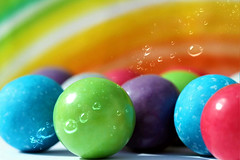 Smile on Saturday...Colourful Candy (Sue Armsby) Tags: smileonsaturday colourfulcandy bubblegum redyellowbluegreen rainbow jaw breaker candy sweets sugar armsbysue