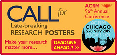 Call for Late-Breaking research posters: ACRM Annual Conference (ACRM-Rehabilitation) Tags: callforproposals callforlatebreakingproposals acrmprogressinrehabilitationresearchconference cancerrehabilitation acrm acrmconference rehabilitationresearch research rehabresearch acrm2018 archivesofphysicalmedicinerehabilitation progressinrehabilitationresearch posters scientificresearch scientificpaperposters braininjuryrehabilitation strokerehabilitation neuroplasticity rehabilitation