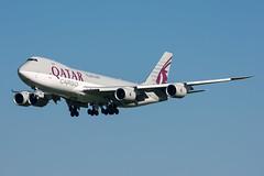 A7-BGB Qatar Airways Cargo Boeing 747-8F (5B-DUS) Tags: a7bgb qatar airways cargo boeing 7478f 747800 b748 ams eham amsterdam schiphol airport aircraft airplane aviation flughafen flugzeug planespotting plane spotting netherlands
