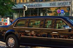 Melania and Donald Trump (Antti Hämäläinen) Tags: donald trump melania president united state america usa limousine black helsinki finland
