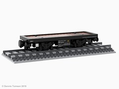 DSB Litra Lgmns (dennis.tomsen) Tags: dsb danish wagon flatbed railroad rail lego train moc lgmns freightcar partdesigner studio flatcar ldd render model legodigitaldesigner rollingstock dbcargoscandinavia scandia flatwagon container