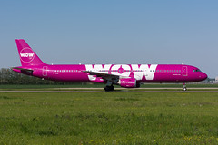 TF-KID - WOW air - Airbus A321-211 (5B-DUS) Tags: tfkid wow air airbus a321211 a321 ams eham amsterdam schiphol airport aircraft airplane aviation flughafen flugzeug planespotting plane spotting