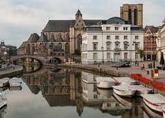 St Michael's Church and Bridge - Gent, Belgium