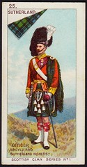 Cigarette Card - Clan Sutherland