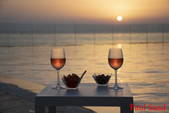 Cheers (Paul Saad) Tags: drink sunset sunrise dusk dawn beach sea clouds colors lebanon beirut lancasteredenbay