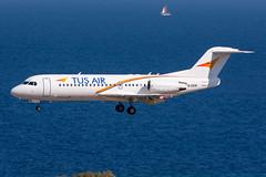 5B-DDB - Tus Airways - Fokker F70 (5B-DUS) Tags: 5bddb tus airways fokker f70 rho lgrp rhodes rhodos airport aircraft airplane aviation flughafen flugzeug planespotting plane spotting greece