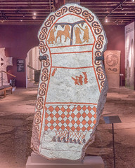 Picture stone, Gotlands Museum, Visby (Gösta Knochenhauer) Tags: 2018 june visby gotland sverige sweden schweden suède svezia suecia panasonic lumix fz1000 dmcfz1000 p9120480nik p9120480 nik bildsten picture stone museum leica lens