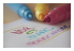 Macro Mondays : Colors / Clothes don't Make the Man / L'Habit ne Fait Pas le Moine (Tostaky2) Tags: macromondays macro pencil feutre couleur colors multicolore multicolor macrodream macrodreams