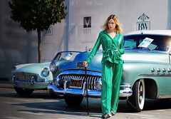 Hugh Hefner Pyjama Party (Marija Mimica busy!!!) Tags: oldtimer city colors people portrait cars green girl girls