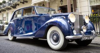 Copy of Vintage Car Transfer - Blue Baron - HR _246
