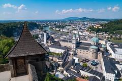 Salzburg (VisualFlux™) Tags: salzburg hohensalzburgfortress salzachriver bluesky clouds architecture cityscape europe austria saltfortress alpine