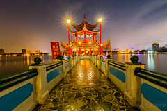 Night photography @ Kaohsiung (Marcel Tuit | www.marceltuit.nl) Tags: nacht bridge taiwan verreoosten nederland canon stones tempel holland backpacking reizen lotuspond avond formosa star vijver eos city religie water temple night pagode duister thenetherlands republiekchina me donker statues brug republicofchina stenen wwwmarceltuitnl evening azie rondreis roc kaohsiung fareast marceltuit toerisme stad travel dark buddism asia kitsch religion contactmarceltuitnl tourism backpacken pagoda happyplanet asiafavorites