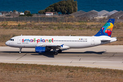 LY-SPI - Small Planet Airlines - Airbus A320-214 (5B-DUS) Tags: lyspi small planet airlines airbus a320214 a320 rho lgrp rhodes rhodos diagoras airport aircraft airplane aviation flughafen flugzeug planespotting plane spotting greece